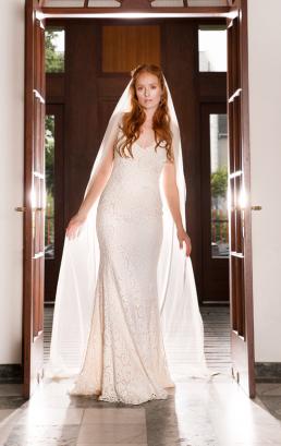 Brudekjole foto taget til magasinet Bruden