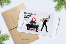 Julekort med nisser, lav dit eget julekort med sjove fotos