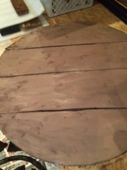 vikingeskjold grundmalet i brun