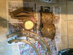 Vikingeskjold dele malet i guld