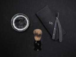 Njord produktfoto, Babersæbe, baberkost og skraber som produktfoto